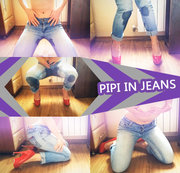 Pipi in Jeans..