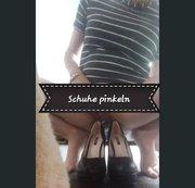 Neue Schuhe gepisst