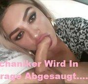 KfzMechaniker Wird In Tiefgarage Abgesaugt....Ich Drecksau Schlucke ALLES!!!!!;)