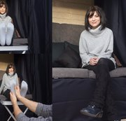 Lilli. Casting Bus. Schuhe, Socken und Nylons. Interview. Fußmassage