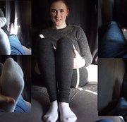 Anna. Im Casting Bus die Füße massiert und Schwanz in der Hose gerubbelt. Teil 2 von 4