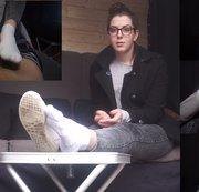 Melissa. Casting Bus. Interview. Schuhe Socken und Füße. Sockjob.