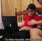 Machen Sie eine Massage zu meinem Schritt bro