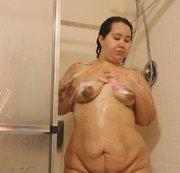 Showering!