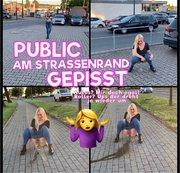 Public am Stra�enrand gepisst - Autos Mir doch egal! Roller Ups der dreht ja sogar wieder um :D !