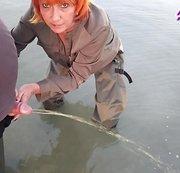 Fischers Schwanz abgepisst