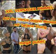 Versager Schwanz XXL !!Auf der Venus doppel Blowjob mit Tajana Young!Dreh abgebrochen