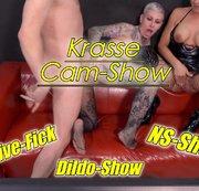 Cam Show mit Daynia mit live Sex,NS und hammergeikle Dildo Show