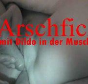 Arschfick mit Dildo in der Muschi