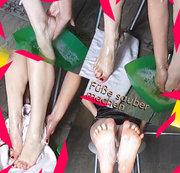 Füße sauber machen