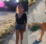 Schuhfetisch, mit Schlappen herumlaufen
