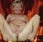 Arsch und Fotze in Flammen