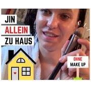 JIN ALLEIN ZU HAUS – NO MAKE UP - ABER MIT PINSEL IN DER