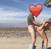 In der Wüste mit geilem Dirty Talk doggy gefickt.
