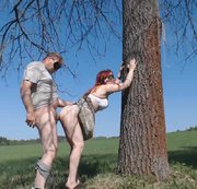 Our first outdoors fucking vid - cum all over her