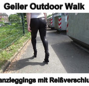 Geiler Outdoor Walk Glanzleggings mit Reißverschluss