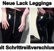Neue Lack Leggings mit Schrittreißverschluss für dich