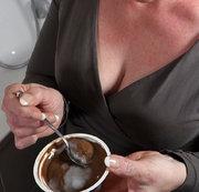 Pudding mit Sacksahne