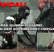 SKANDAL! PERVERSE GUMMI-PISSEREI IN DER SUPERMARKT TIEFGARAGE!