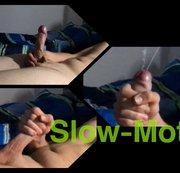 Mega geiler riesen Slow-Motion Cumshot