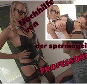 Nachhilfe von der spermageilen Professorin!