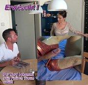 Nerd Wichsanleitung! Dein Sperma auf den roten Heels