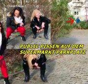 Supermarktparplatz Public pissen