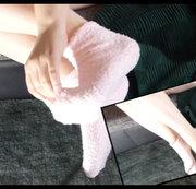 Rosa Plüschsocken