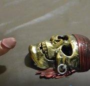 Dem Piraten in Gesicht gespritzt