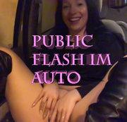 Public Flash im Auto-Fahrt zur SylvesterParty