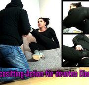 Facesitting-Action für devoten Diener