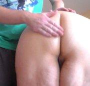 Spanking Her Big Round Nice Ass