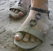 Sandmädchen - staubige Fußspielchen