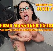 Sperma Massaker Extrem! Multipler Doppel Cumshot �berschwemmt mein Gesicht Extrem!