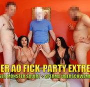 User AO Fick-Party Extrem! Krasser Monster Squirt + Sperma �berschwemmung!