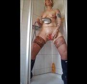 Gummi - Nylon Session unter der Dusche