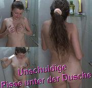 Unschuldige pisse unnter der dusche.