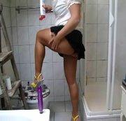 Putzen kann ich auch auf HIGH HEELS!!!!