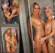 Stieftochter und Stiefmutter , wir treiben es in der Dusche bis zum Orgasmus