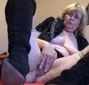 Pelz Nylons und Stiefel fetisch POV f�r meinen Sklaven
