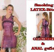 Smoking LATEX-Bitch GERIMMT&ANAL gefickt