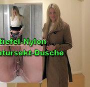 Stiefel - Nylons - Natursekt - Dusche