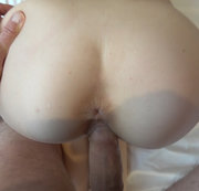 Teenie fucked from behind with big cock
