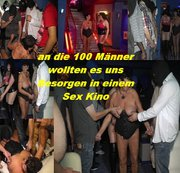 Geile Gang Bang Orgie mit fast 100 Männer