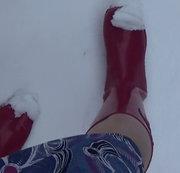 Festplatten Fund ... mit Gummistiefeln im Schnee....