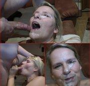 Sperma Explosion ins Gesicht