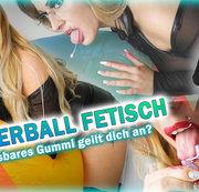 Wasserball Fetisch! Aufblasbares Gummi geilt dich an!