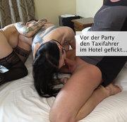 Vor der Party den Taxifahrer blank gefickt!