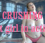 crushing - hot girl in action