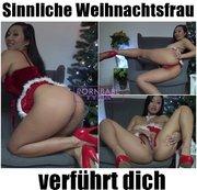 Sinnliche Weihnachtsfrau verführt dich